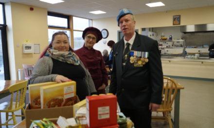 UN Post 29 Carlow & Tesco Food Cloud Help St Clare's Soup Kitchen Carlow