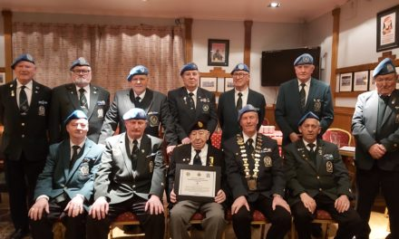 Army Veteran Seamus Byrne is Honoured for his lifetime of Military Service