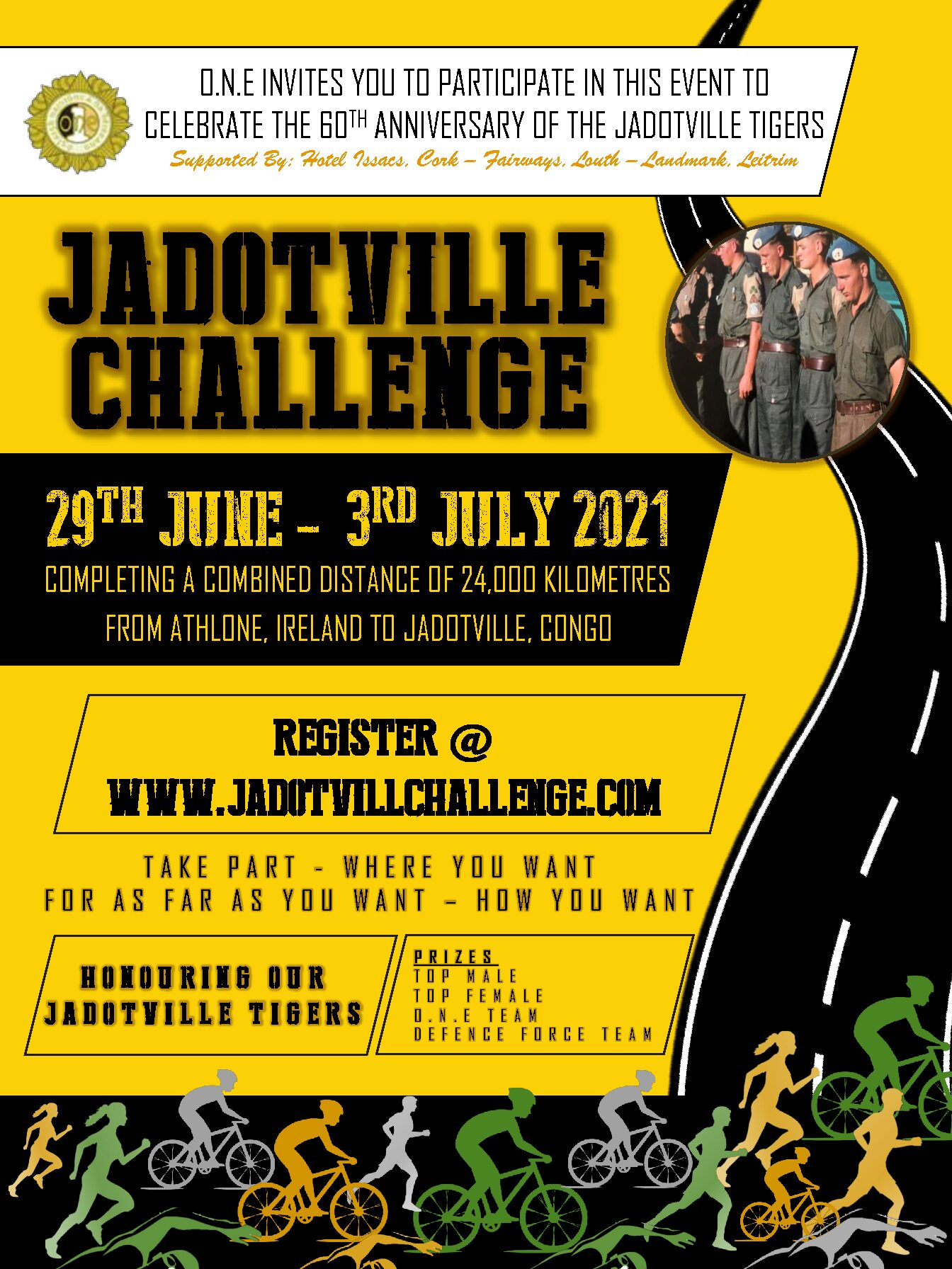 JADOTVILLE CHALLENGE 29th June to the 3rd July 2021